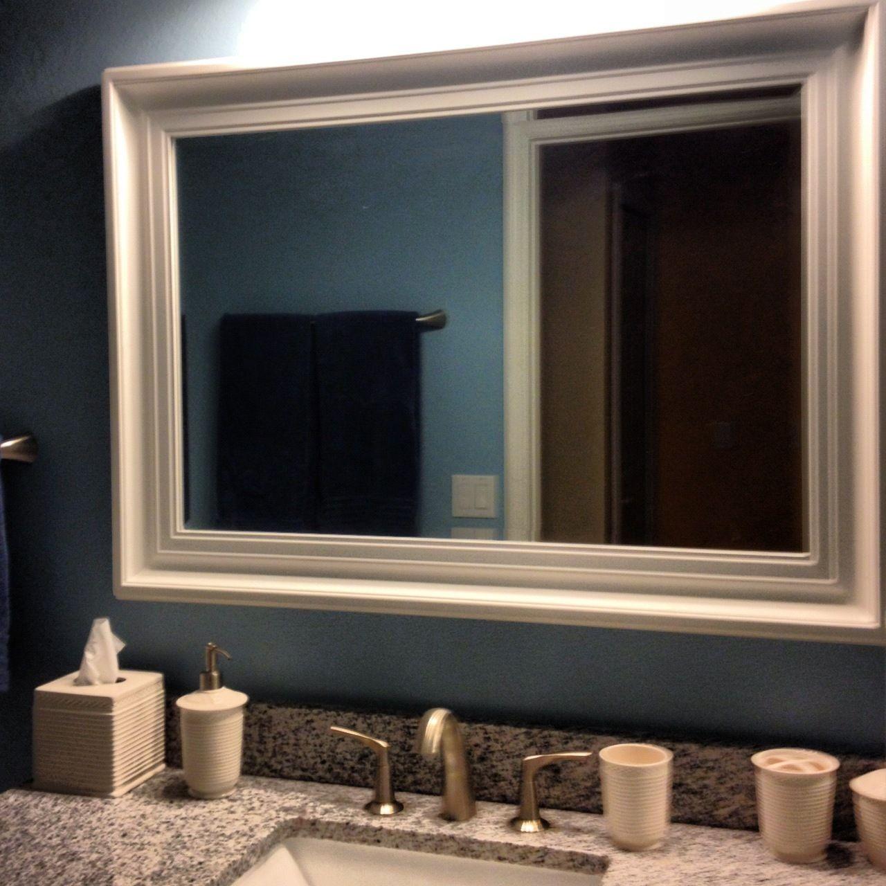 Bathroom Superb Bathroom Mirror Frames Ideas With High Class Carved Art  Along Luxury Sinks And