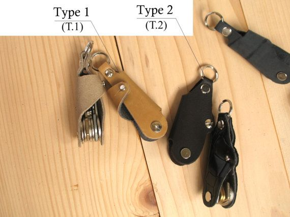 Leather key holder  Leather key case  Key cover  by SerVal64