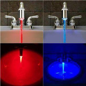 Water Temperature Faucet Light Led Led Faucet Kitchen Sink Faucets Faucet