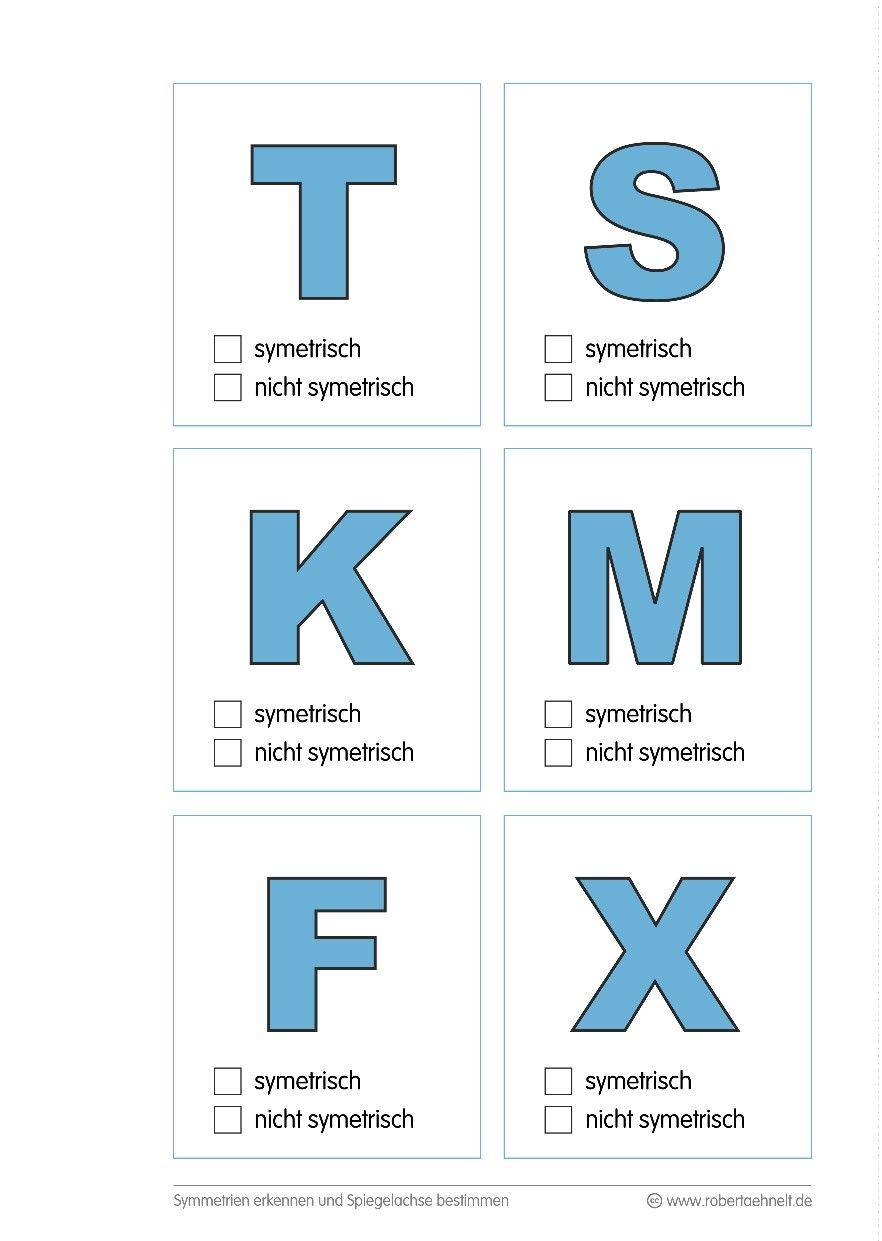 Geometrie Arbeitsblatt A5 - Symmetrie | Math is universal ...
