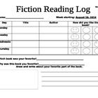 Reading log for each day of the week. Students draw and write about their favorite book/part of the book.