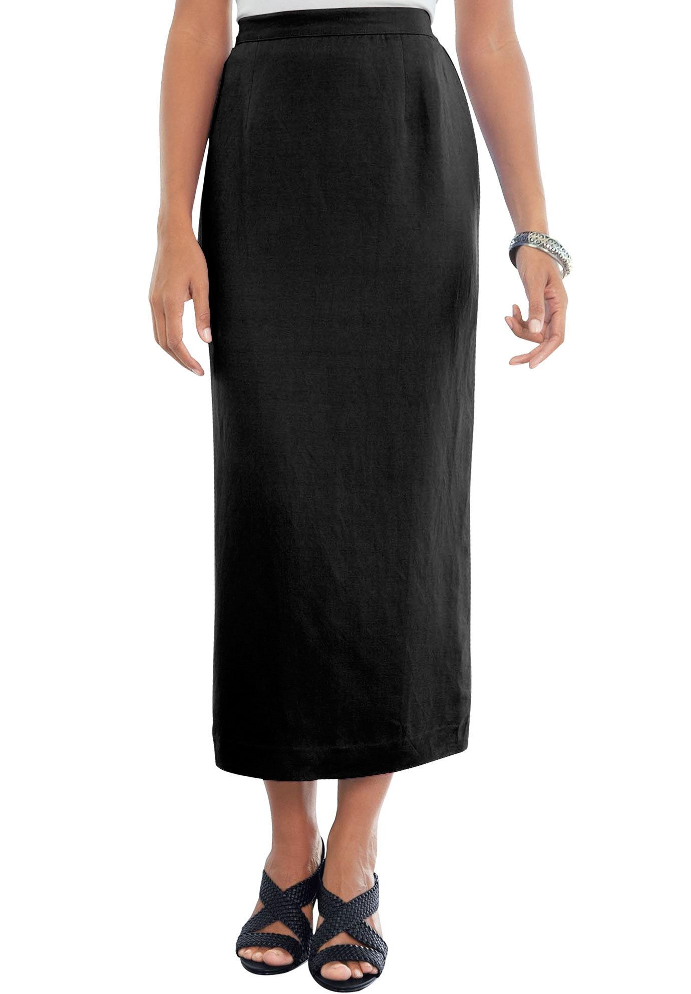 Plus Size Linen-Blend Skirt