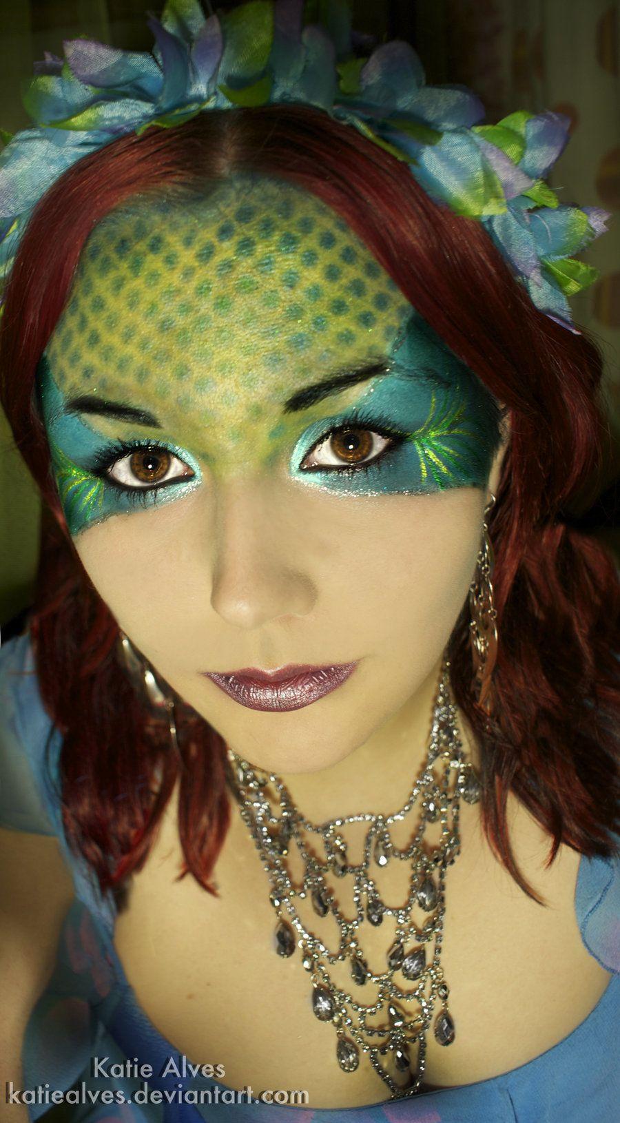 Beautiful mermaid makeup   Mermaid face paint, Mermaid ...