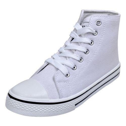 Damen  Angebot S  Damen  High Top Sneaker Turnschuhe Sportschuhe Canvas ... 8665aa