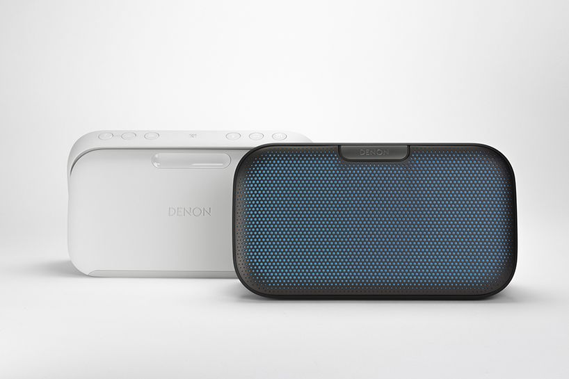 denon envaya bluetooth speaker by feiz design studio enables music sharing