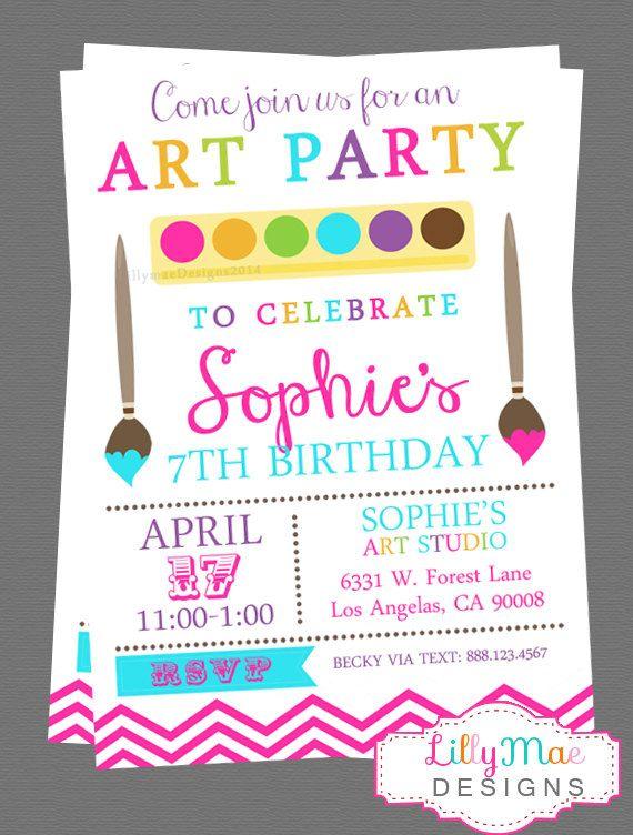 art party invitation paint party