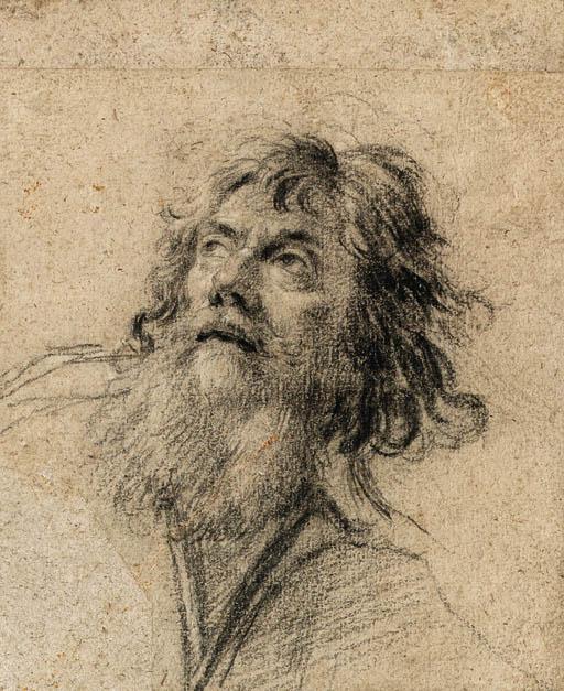Simon Vouet 1590 1649 The Head Of A Bearded Man Looking Up To The Left Christie S L Art Du Portrait Dessin Noir Et Blanc Artiste Peintre