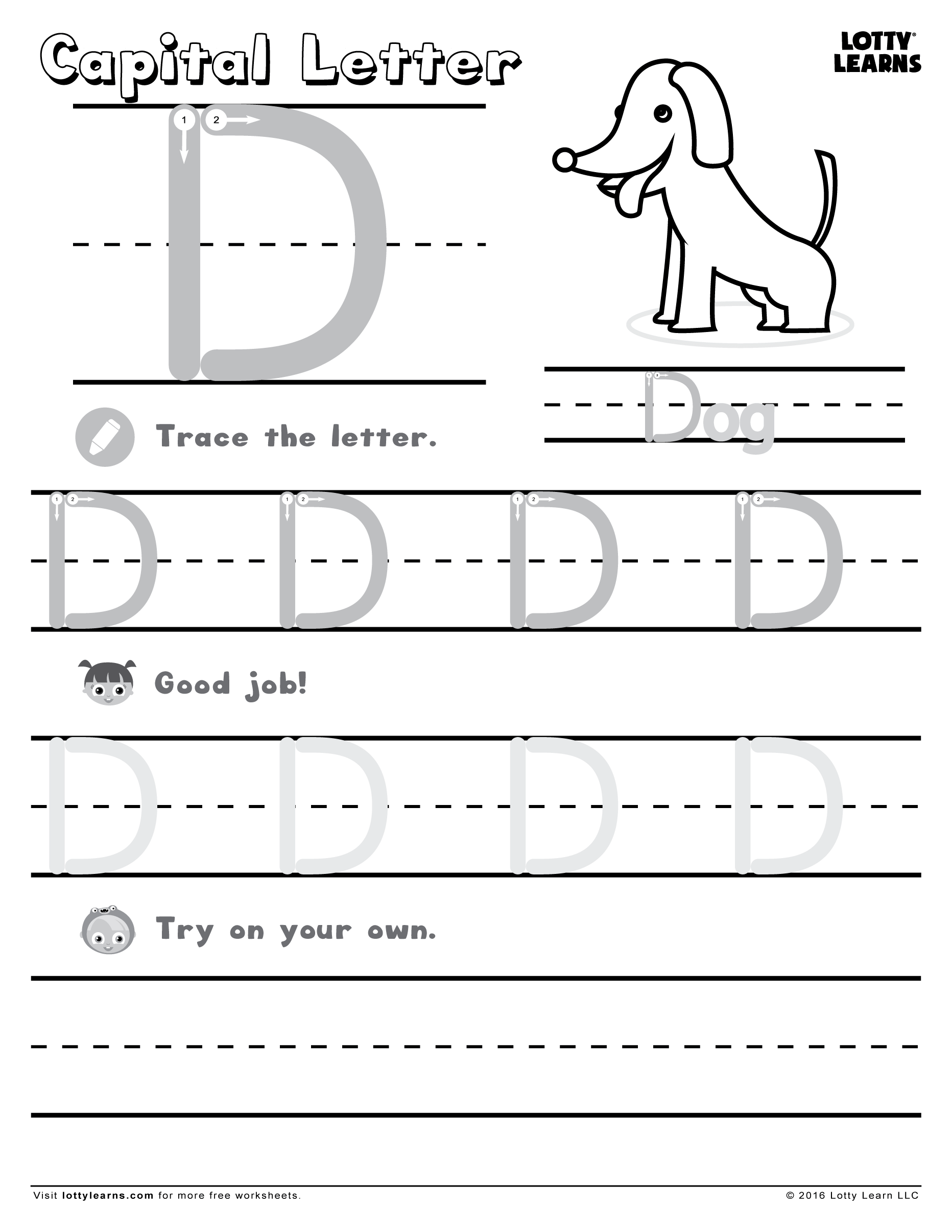 Capital Letter D