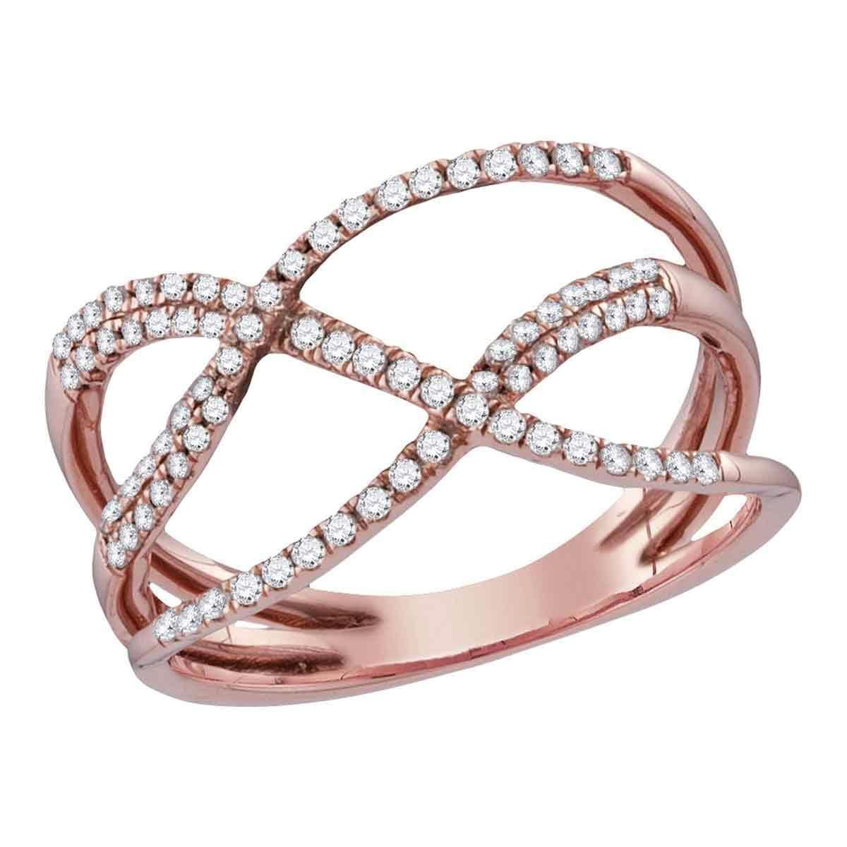 Jewels By Lux 14k White Gold Heart Ring Size 7