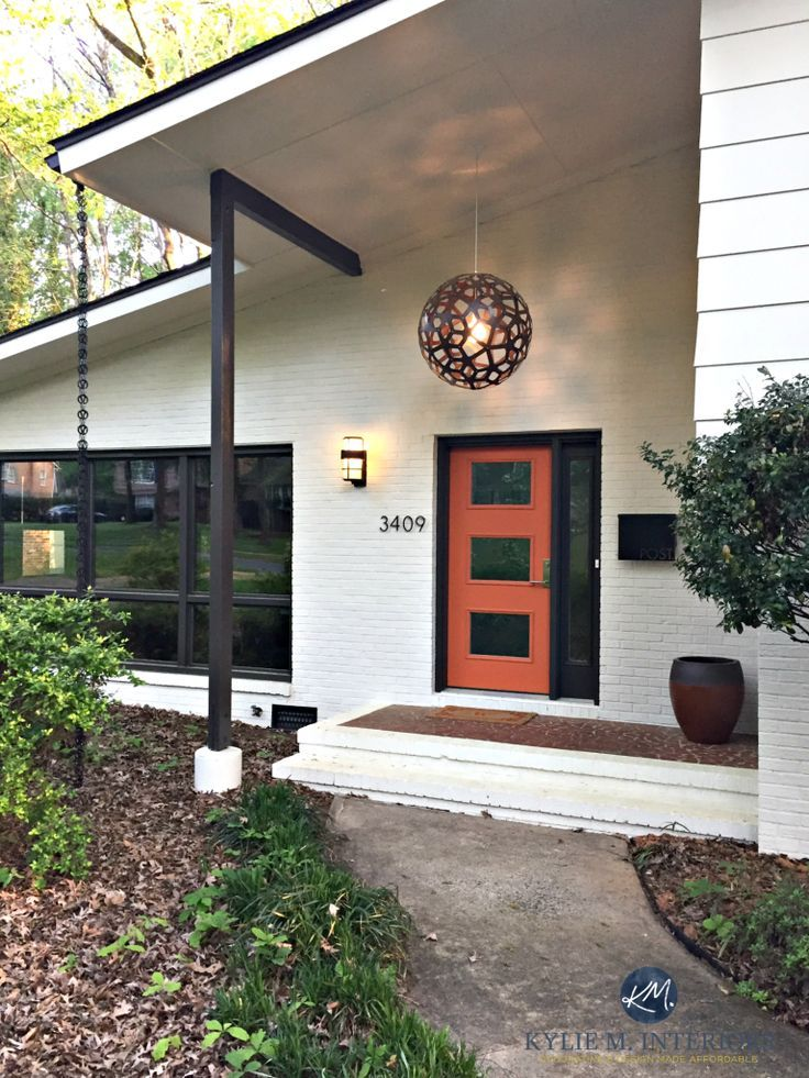 A Stunning Exterior Makeover Painted Brick And More House Paint Exterior Brick Exterior House White Exterior Houses