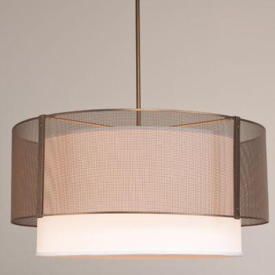 Buy The Uptown Mesh Drum Chandelier With Shade By Hammerton Studio And The Best In Modern Lighting At Ylighting Drum Pendant Lighting Drum Light Drum Pendant