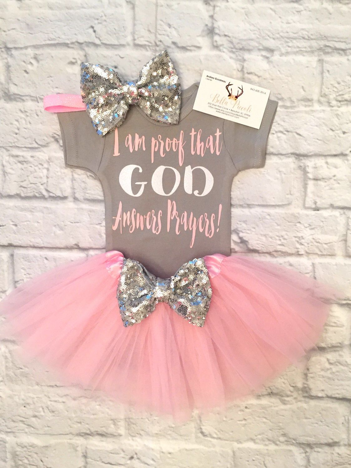 I Am Proof God Answers Prayers Bodysuit Baby Girl Clothes Answered Mom N Bab Blouse Emily Pink Size 4t Love The Onesie
