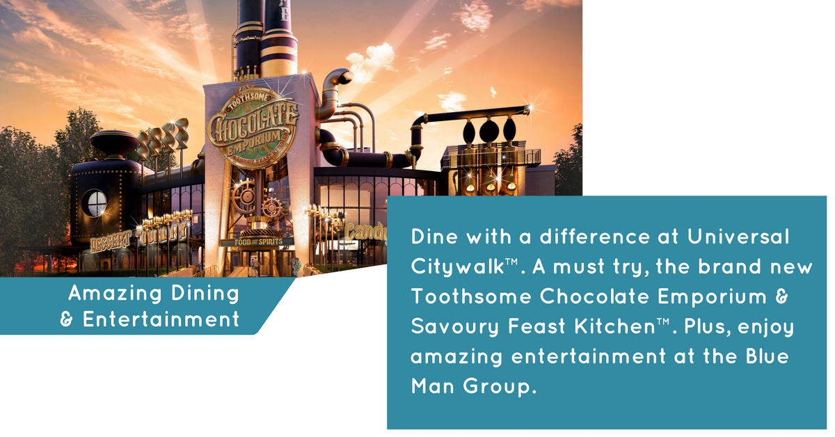 Dining & Entertainment at Universal Citywalk