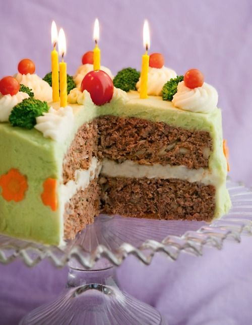 Brilliant Meatloaf Cake The Thought Grosses Me Out But Its So Pretty Personalised Birthday Cards Cominlily Jamesorg