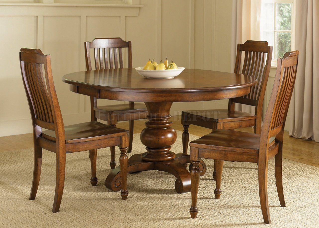 dining table cool dining room decoration using light walnut wood round pedestal dining table ...