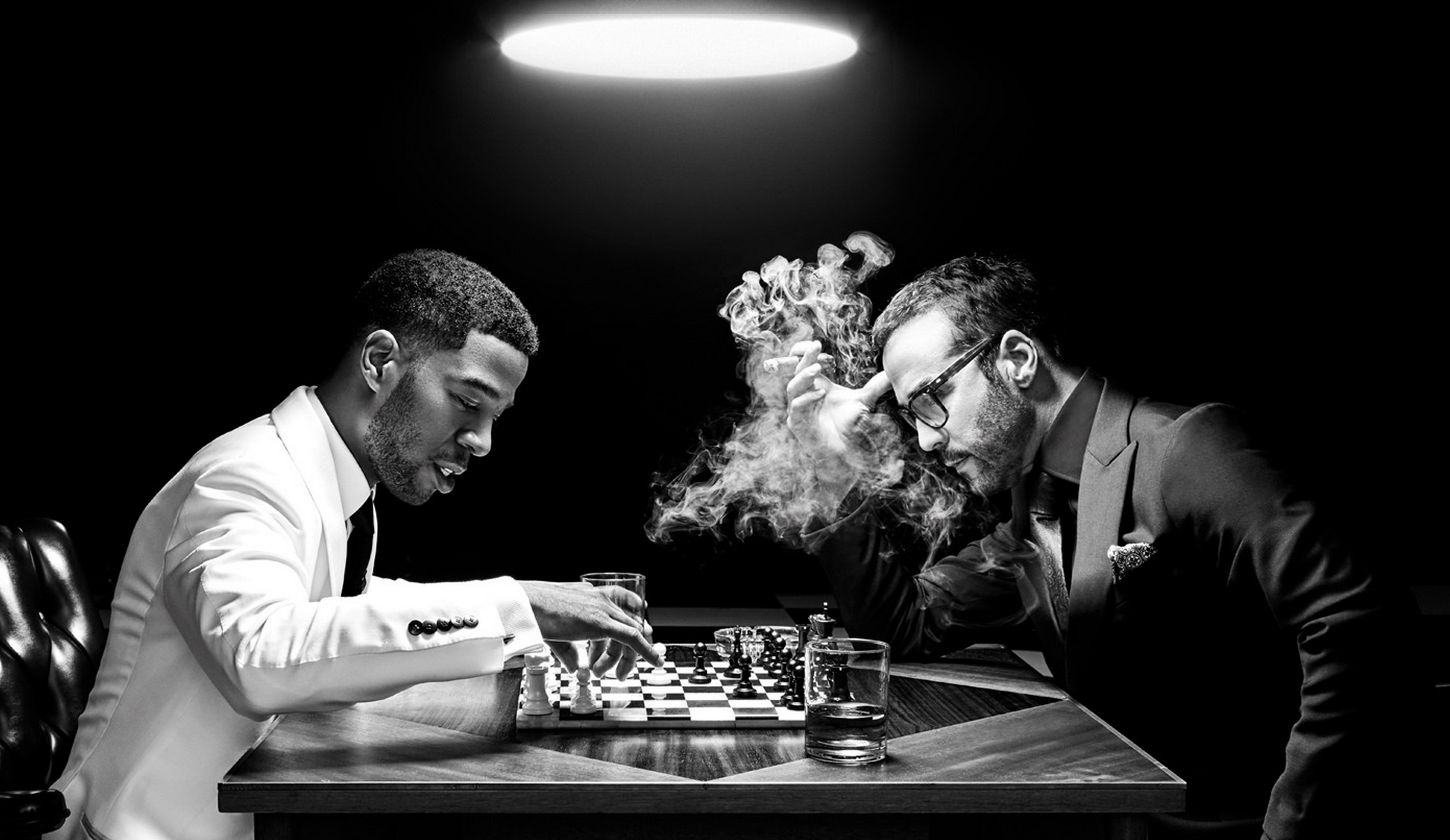 Ravageurs play chess Kid Cudi and Jeremy Piven Icons