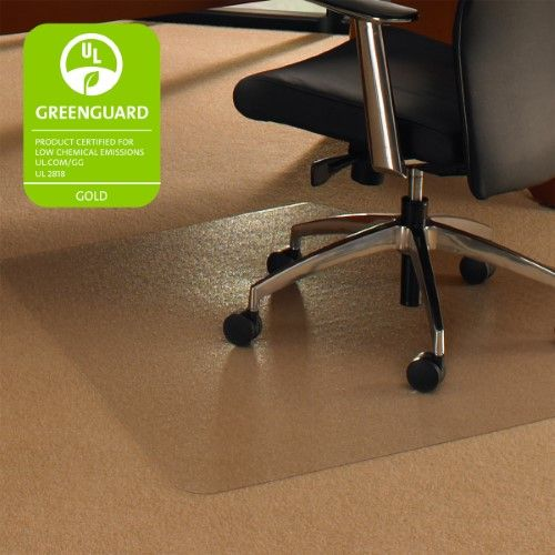 Cleartex Ultimat Corner Workstation Chair Mat Polycarbonate For Low Medium Pile Carpets Up To 1 2 Size 48 X 60 Chair Mats Corner Workstation Chair