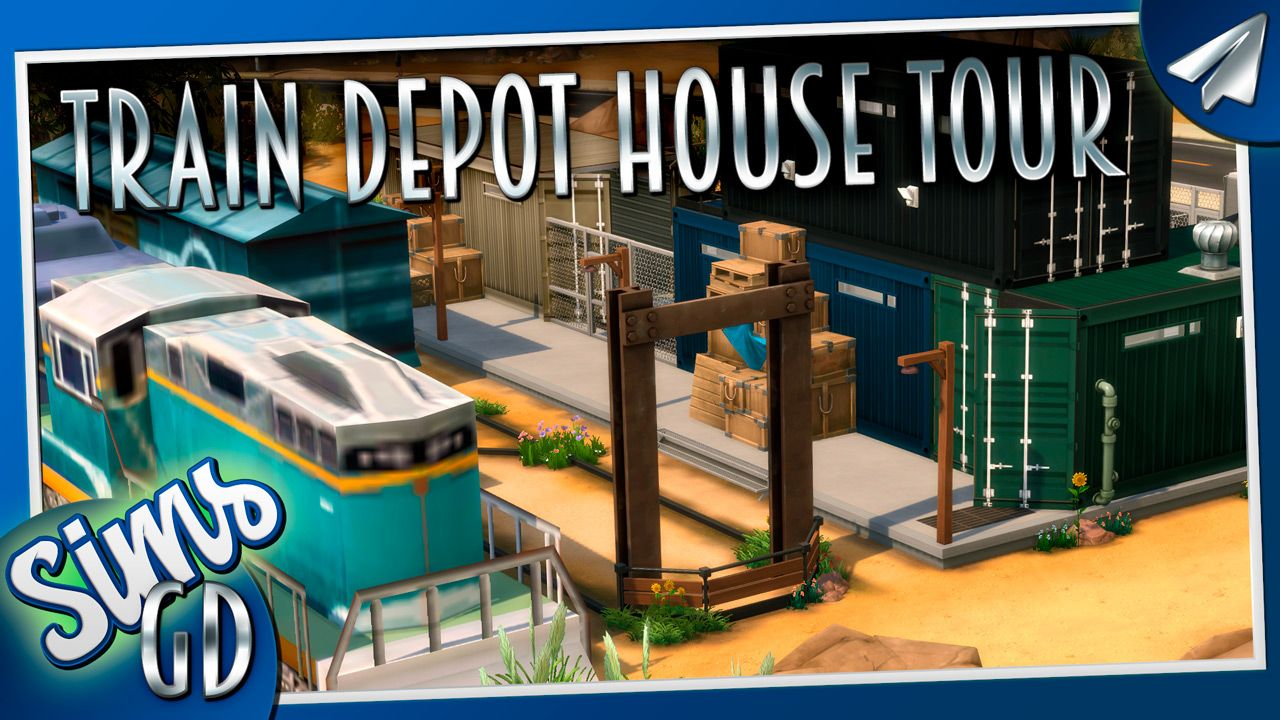 This Sims 4 Train Station Tour Is Of An Abandoned Shipping Container Train Depot I Converted An Old Contain Train Station Shipping Container House Train Depot