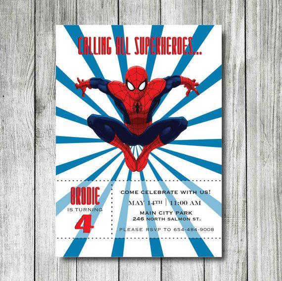 Spiderman birthday invitation superheroes birthday invitation spiderman birthday invitation superheroes birthday invitation printable spiderman invitation filmwisefo Gallery