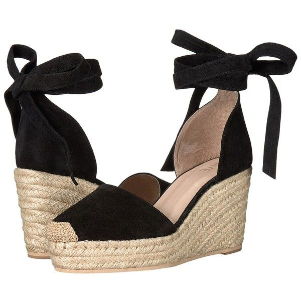 e0baad151d RAYE Dahlia (Black) Women's Wedge Shoes ($180) ❤ liked on Polyvore  featuring shoes, sandals, black espadrilles, wedge shoes, black closed toe  sandals, ...