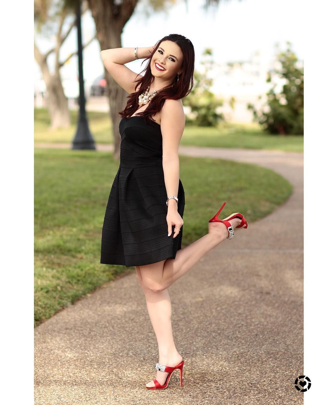 Little black dress lbd redshoes loveyourself fashion