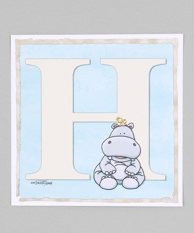 Baby Hippo ABC Giclée Print by Bella Baby Art on #zulily