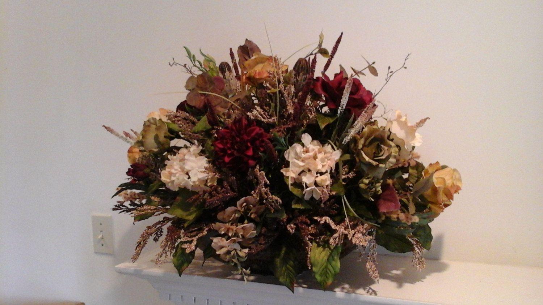 Floral Arrangement Large Elegant Centerpiece SHIPPING INCLUDED Dining Room Table Mantel Foyer Modern Silk Rose