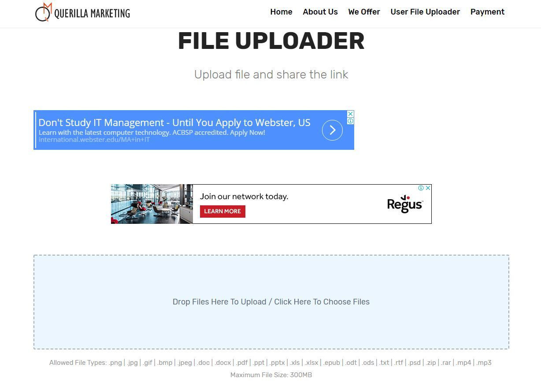 upload files online free no registration
