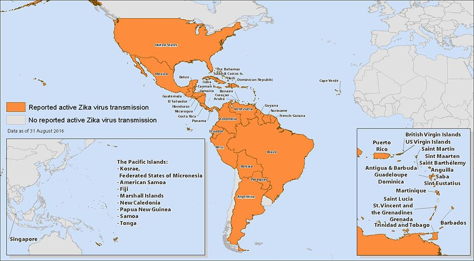 all countries and territiories