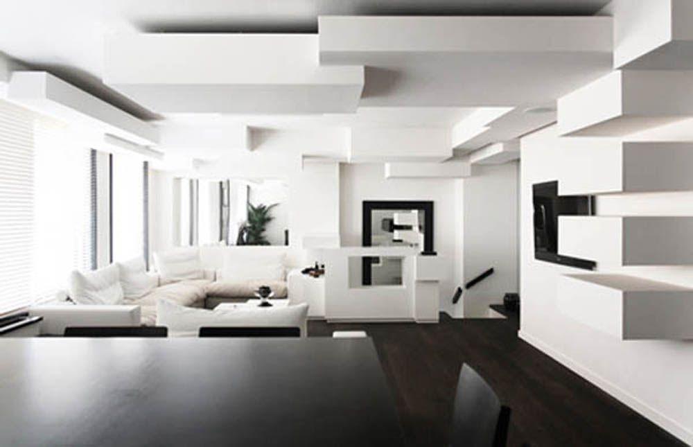 Parisian Room Decorimages  Contemporary Apartment In Paris With Brilliant Modern Design For Living Room 2018