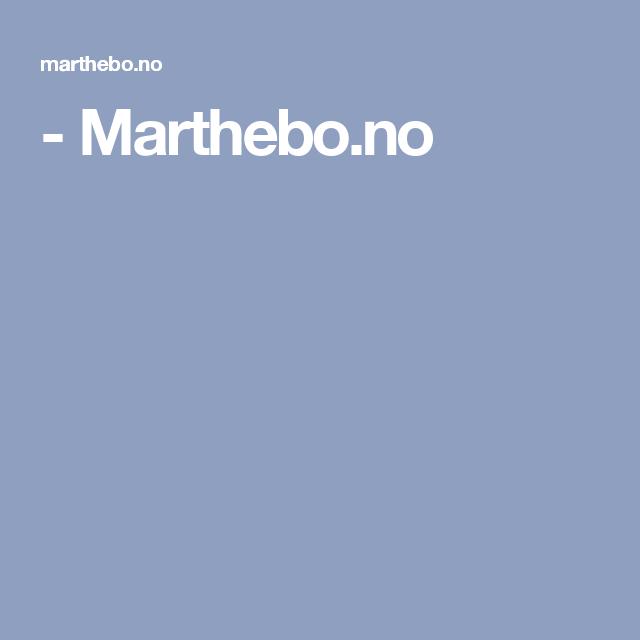 - Marthebo.no