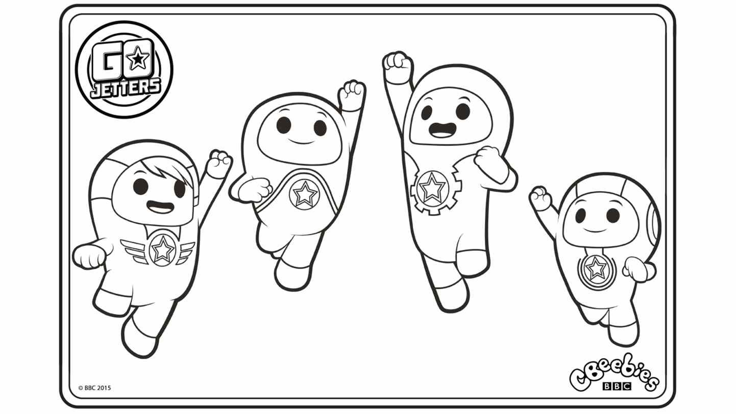 Colouring Go Jetters CBeebies