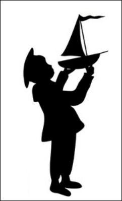 Little sailor boy silhoutte