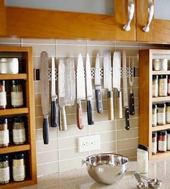 Buenas Ideas Para Ahorrar Espacio En La Cocina Vivir Creativamente Small Kitchen Small Kitchen Storage Kitchen Utensil Storage