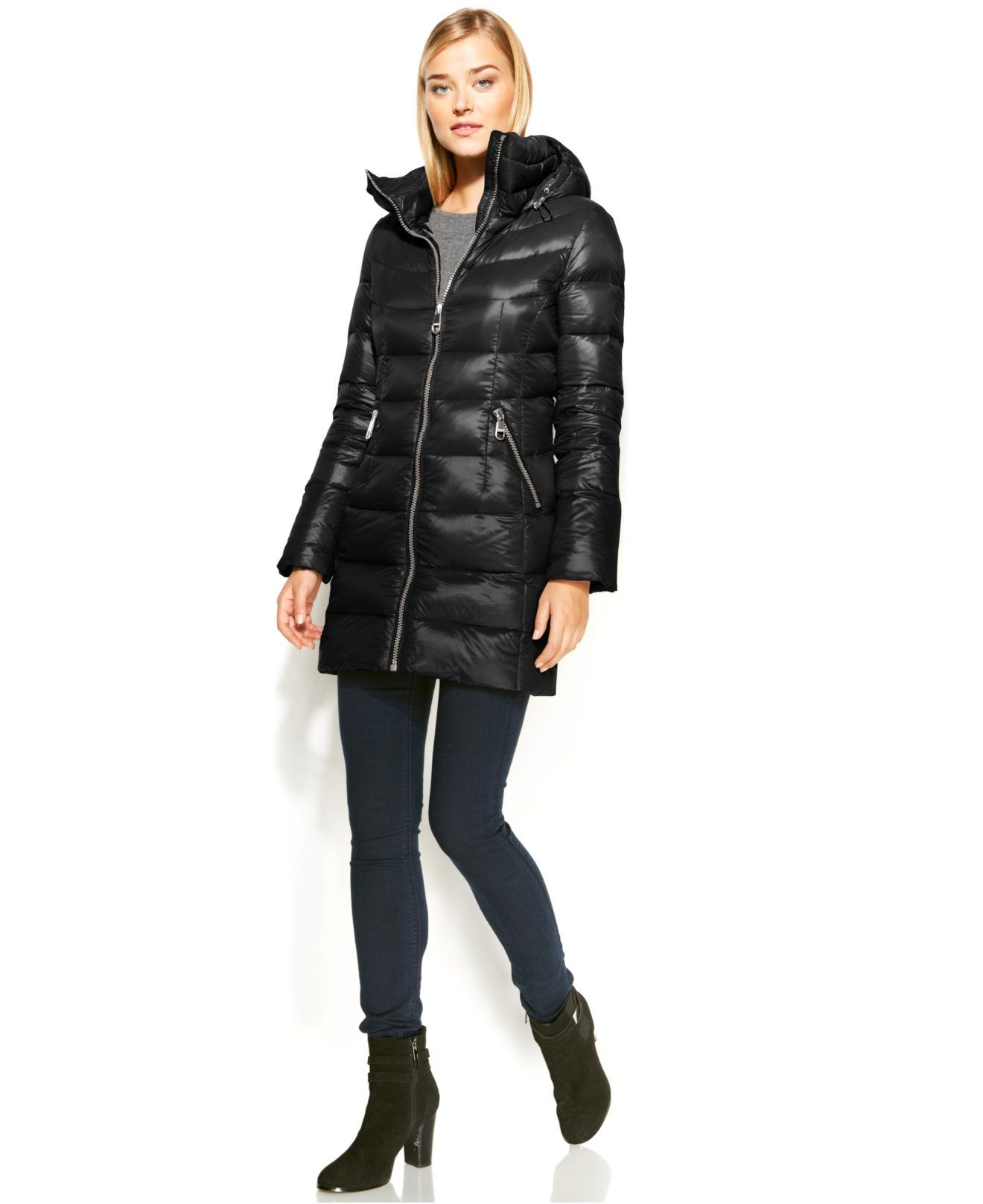 28982516cea0 Calvin Klein Hooded Quilted Packable Down Puffer Coat - Coats - Women -  Macy's