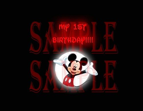 1st Birthday Mickey Mouse Iron T-shirt Decals Diy Digital