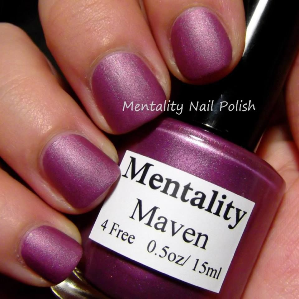 Mentality Nail Polish - Amy, a pastel violet from the