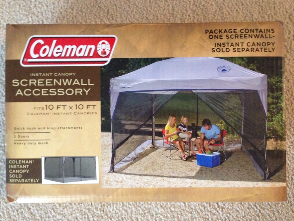 COLEMAN INSTANT CANOPY SCREENWALL 10u0027 X 10u0027 SCREEN WALL ONLY - HEAVY DUTY MESH & Earth Alone (Earthrise Book 1 | Exceed Hot tubs and Canopy