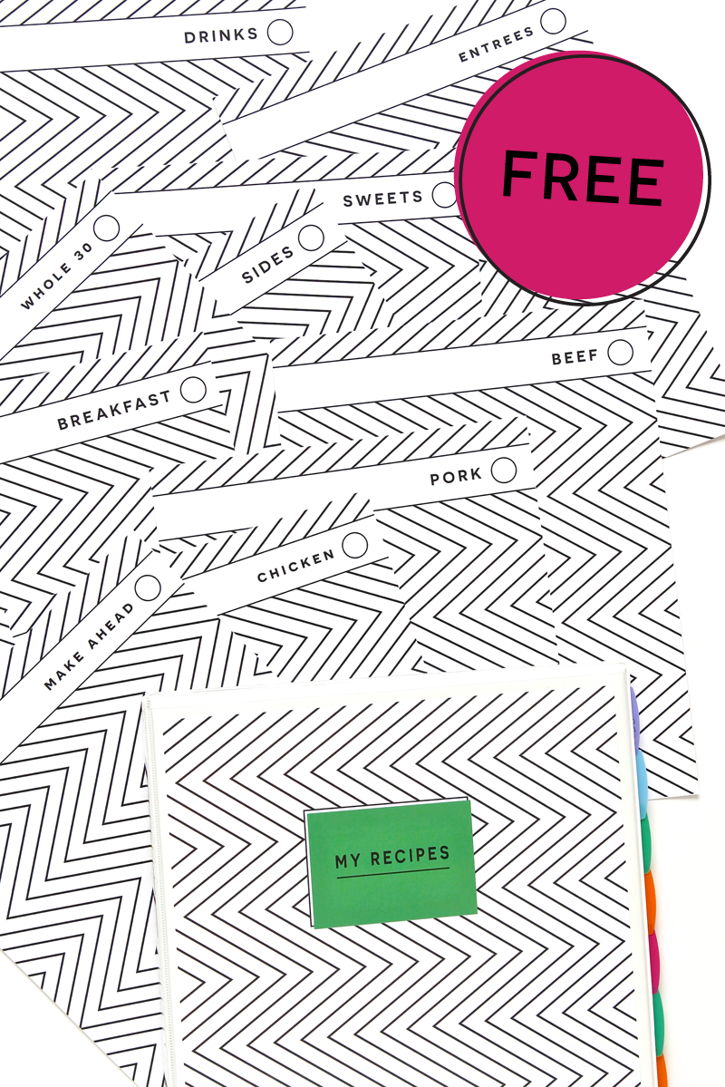 free printable avery recipe binder kit best of pinterest
