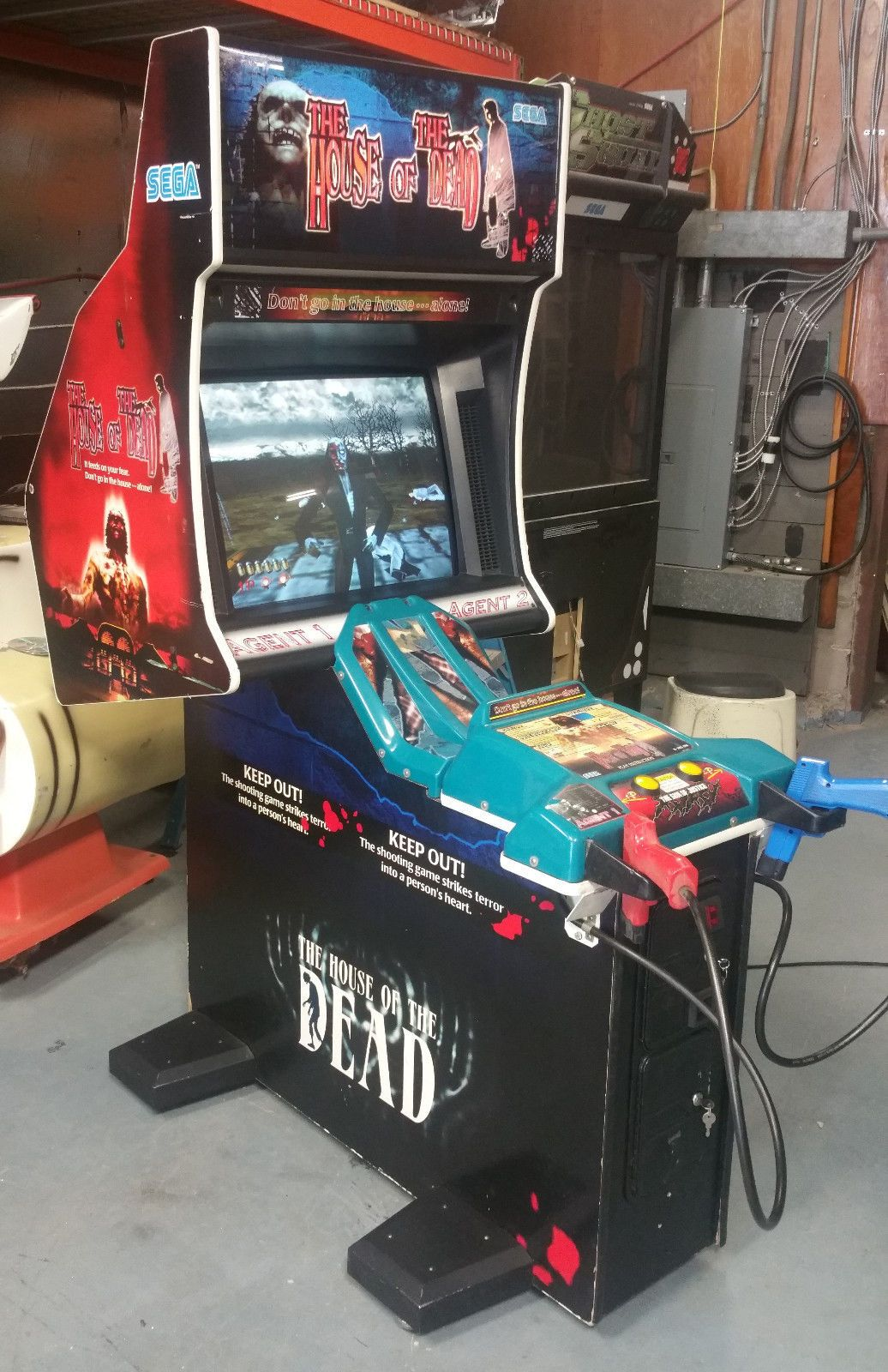 The House Of The Dead Full Size Arcade Shooting Game Fun Classic