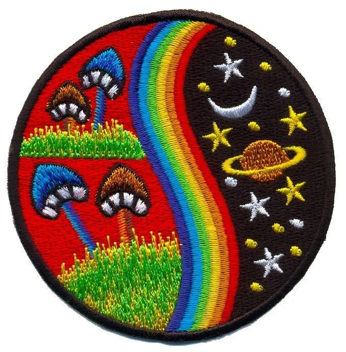 Embroidered Hippie Appliques Patches Iron On Badges Costume Accessory Hippy