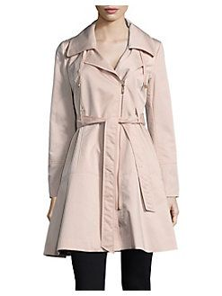4ab130a296d Karl Lagerfeld Paris - Asymmetric Zip Trench Coat