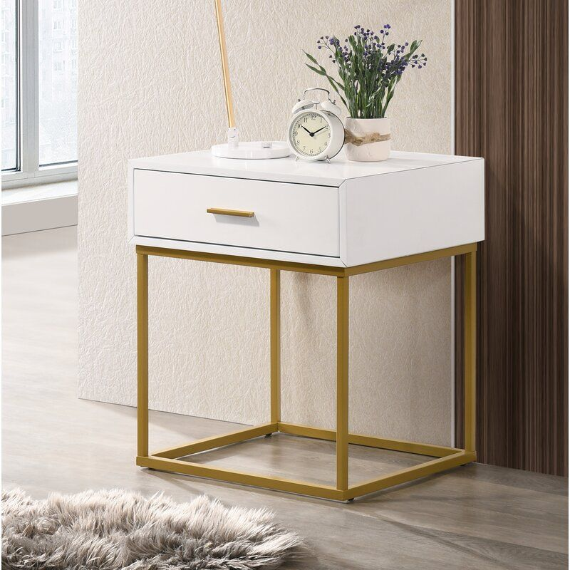 Calles 1 Drawer Nightstand In 2020 Bedroom Night Stands Modern Side Table Bedroom Contemporary Nightstand