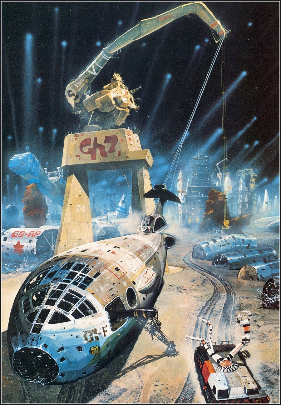 Chris Foss' science fiction art in the 70s was gritty. he ...