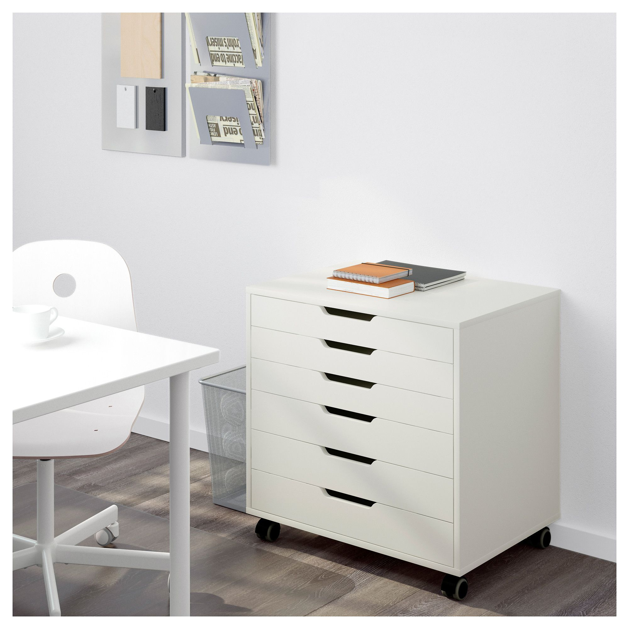 Ikea Alex Drawer Unit On Castors Stops Prevent The From Being Pulled Out Too Far
