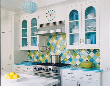 Yellow And Turquoise Kitchen Creepingthyme Info