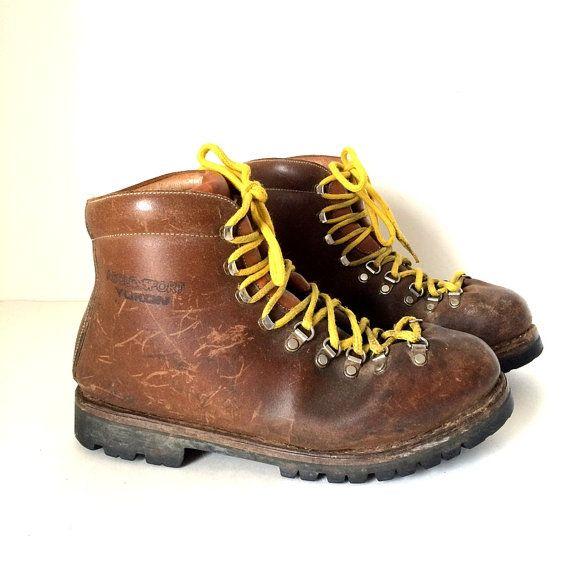 Vintage Asolo Sport Yukon Mountaineering Leather Hiking