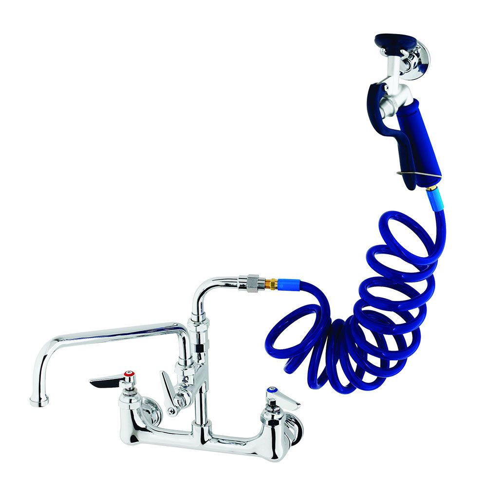 T&S PG-8WSAN-12 Wall Mount Pet Grooming Faucet with 8\
