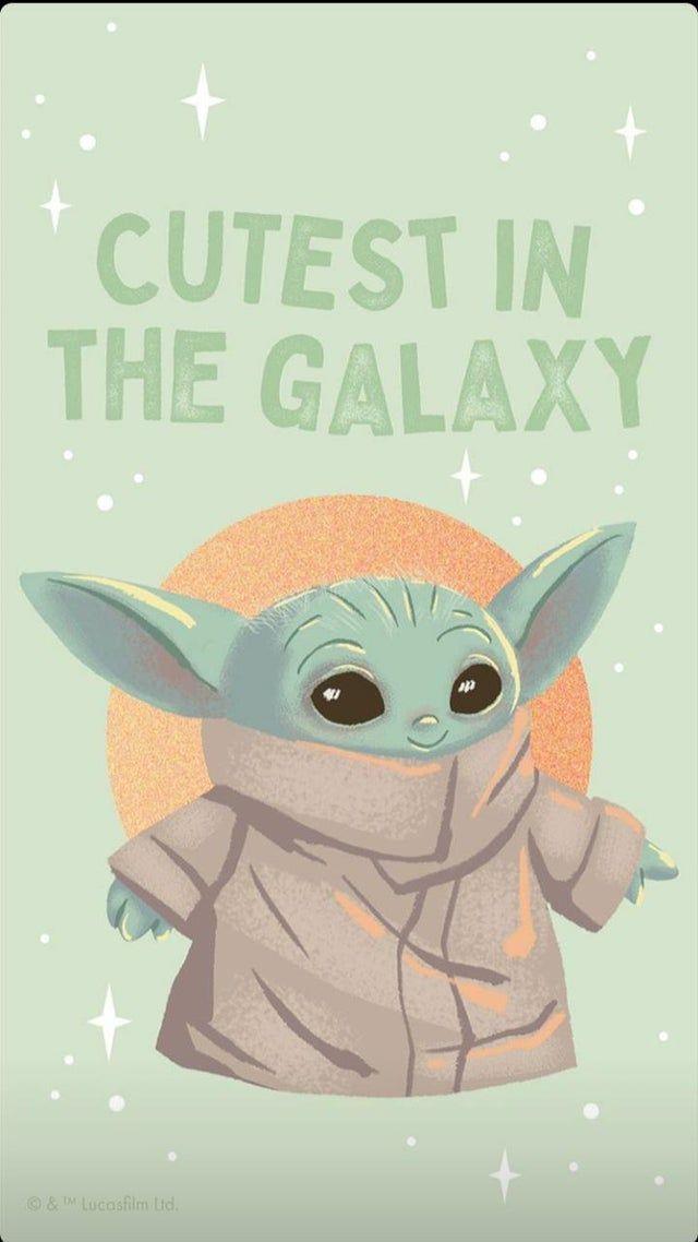 Reddit Babyyoda Got My Self Some Protection Yoda Wallpaper Star Wars Baby Yoda Sticker