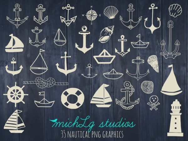 35 nautical png graphics - Luvly Marketplace | Premium Design Resources #nautical #clipart
